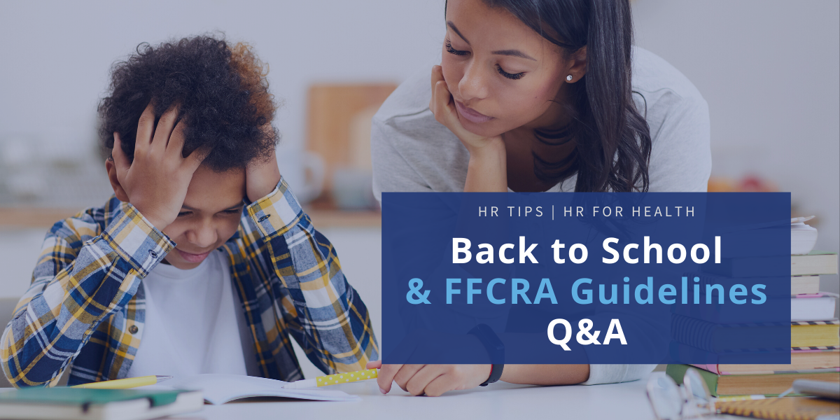 Back to school and FFCRA Q&A