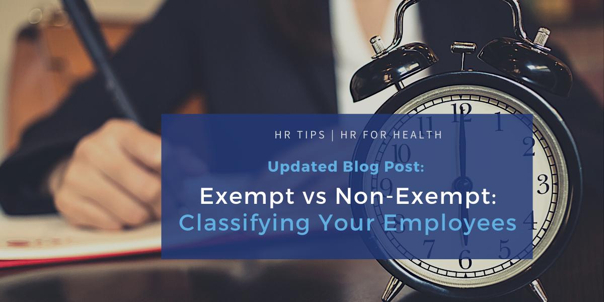 Exempt vs Non-Exempt