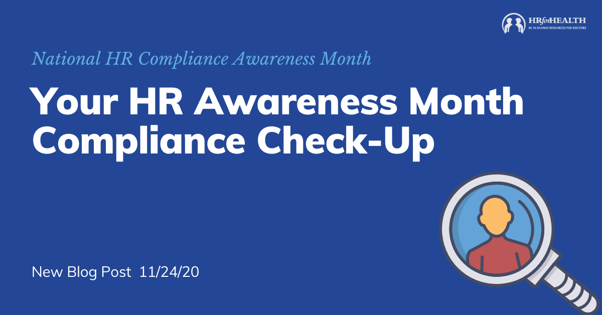 Your HR Awareness Month Compliance Check-Up