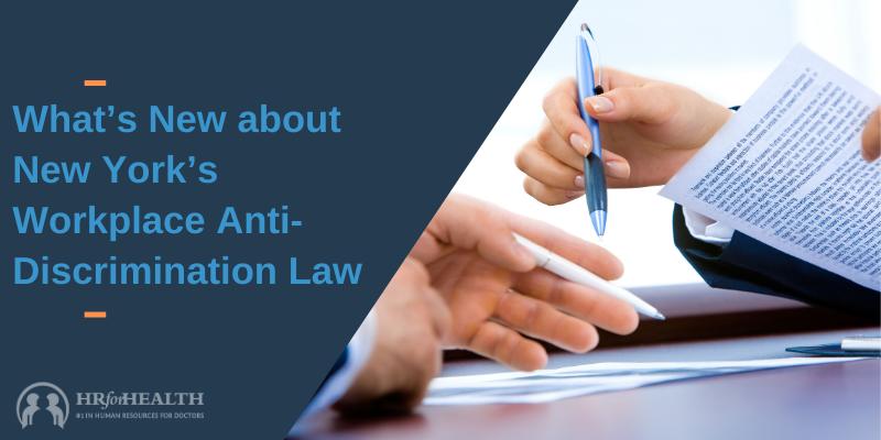 NY workplace anti-discrimination law